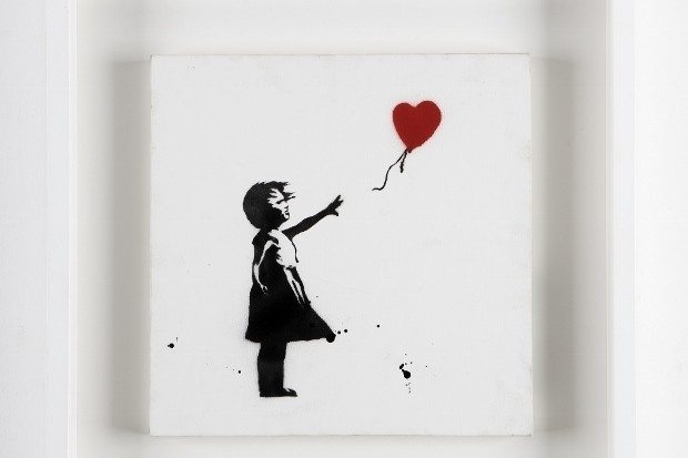 the art of banksy kırmızı balon