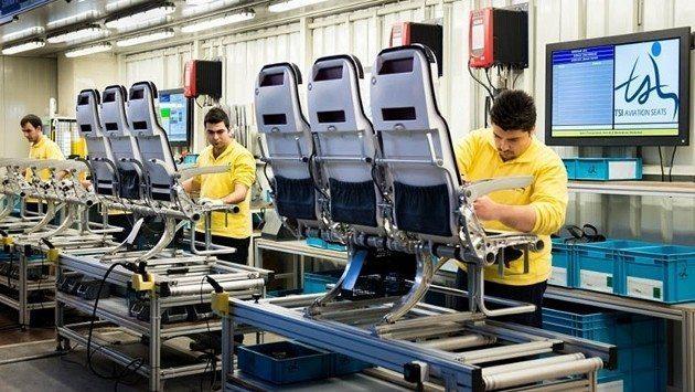 Türk Hava Yolları TSI uçak koltuk yapımı imalatı