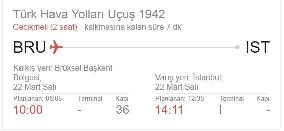 brüksel istanbul thy tk 1942