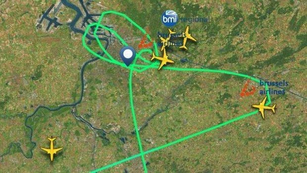 thy uçağı apronda brüksel havalimanı patlama