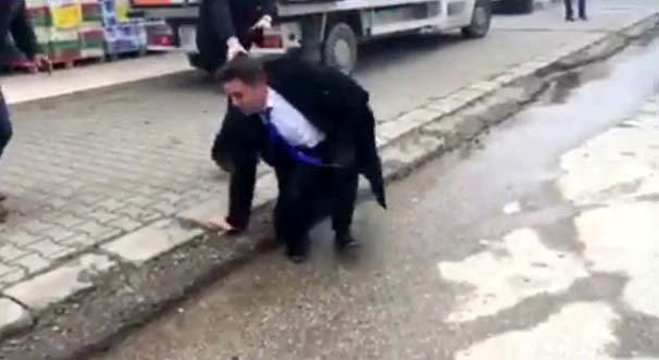 chp il başkanına saldırı