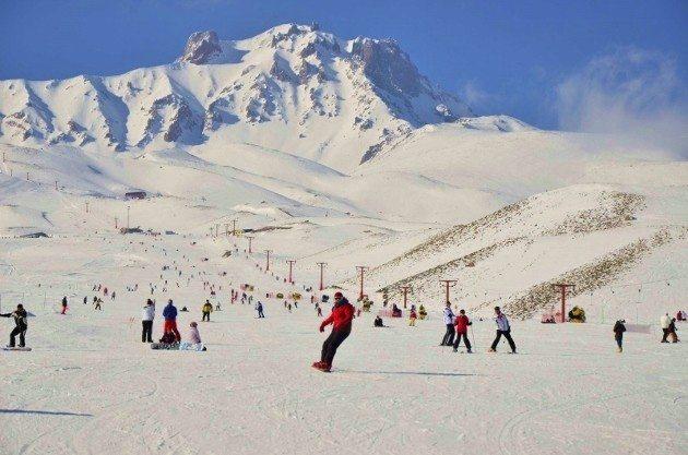 Erciyes Kayak Merkezi bu kış çok talep gördü