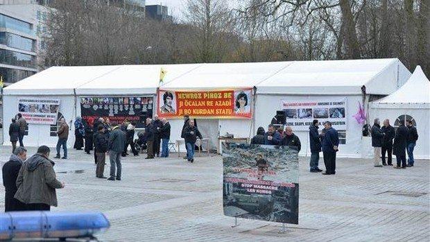 pkk terör çadırı belçika skandal
