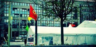 belçika brüksel pkk çadırı terör avrupa birliği