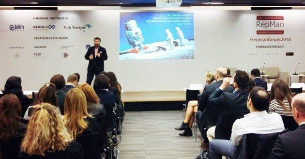 RepMan Forum 2016'nın konuşmacıları arasında Dr. Ömer Deveci (sikayetvar.com), Dr. Uygar Özesmi (change.org ve Good4Trust org), Temel Aksoy (Fikirhane ve temelaksoy.com), Gazeteci-Yazar, İnternet Ekipleri Amiri M. Serdar Kuzuloğlu yer aldı.