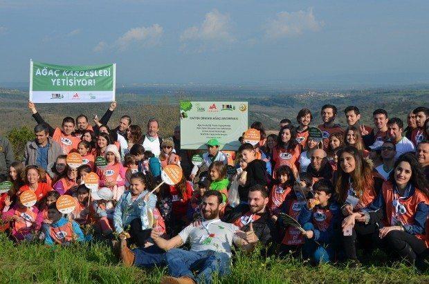 Ağaç Kardeşliği Projesi adım adım gerçekleşiyor tema vakfı çanakkale biga
