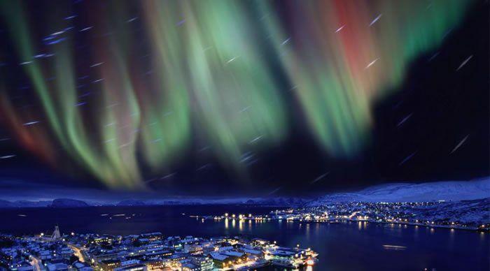 norveç kuzey ışıkları aurora