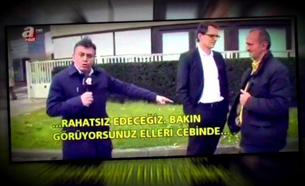 A Haber kanalından bir muhabirin Alman ZDF kanalı önündeki görüntüleri, gazeteciliğin ne hale geldiğini bir kez daha gözler önüne serdi...