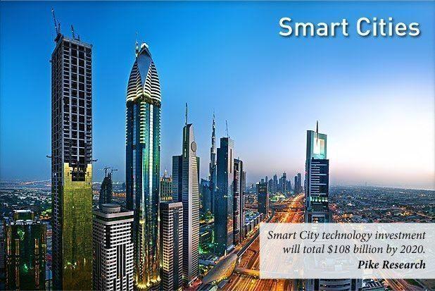 Akıllı şehir yatırımlarının 2020 yılına kadar 108 milyar dolara ulaşması bekleniyor.