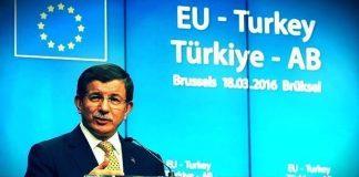 Başbakan Davutoğlu AB'nin Türk vatandaşlarına Haziran'a kadar vizesiz seyahat getirilmezse Türkiye'nin taahhütlere uymayacağını söyledi.