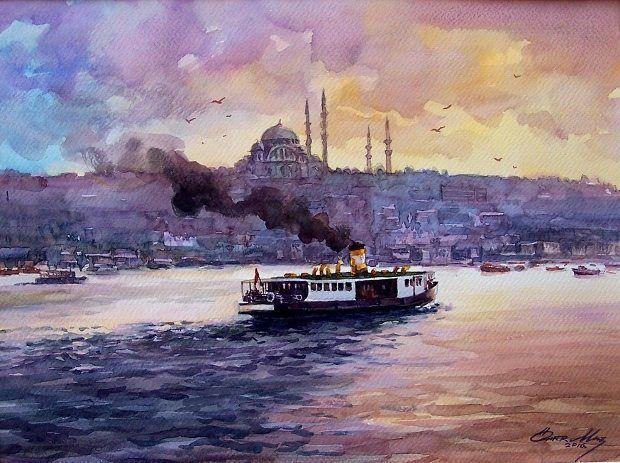haliçte akşam Ömer Muz Bir Yanım Anadolu sergisi derinlikler sanat galerisi