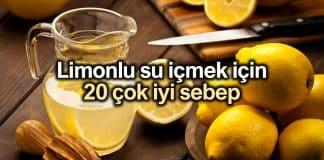 Limonlu su içmek için 20 çok iyi sebep: Limonlu suyun faydaları
