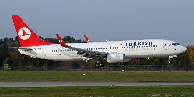 TC-JHD kuyruk tescilli Boeing 737 tipi Türk Hava Yolları uçağı