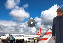 başbakan davutoğlu ana uçağı yerine thy uçağı ile bosna hersek'e gitti video