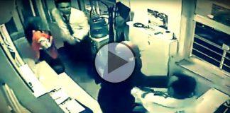 Erdoğan Bayraktar güvenlik görevlisini copla darp etti