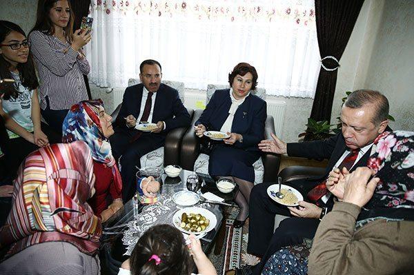erdoğan ikram edilen pilavdan yedi kırşehir