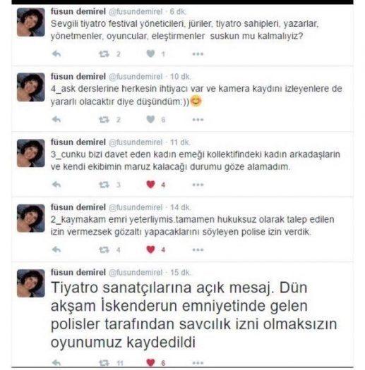 Füsun Demirel'in 'Aşk Dersleri' oyununa polis kaydı!