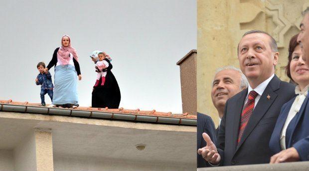 erdoğan hayranı kadınlar çatıda kırşehir