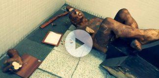 Türklerin çıplak heykel ile imtihanı izmir metrosu müzisyen heykeli balyozla kırıldı