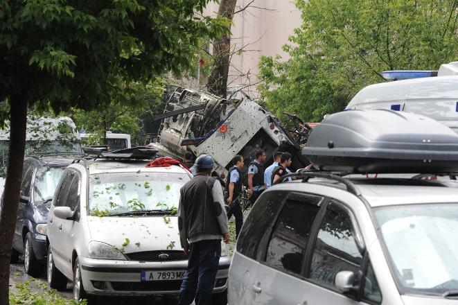 vezneciler patlama çevik kuvvet polise saldırı