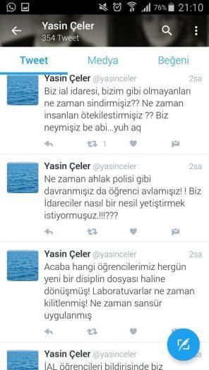 Din öğretmeninden öğrencilerine atılan küfürlü tweet