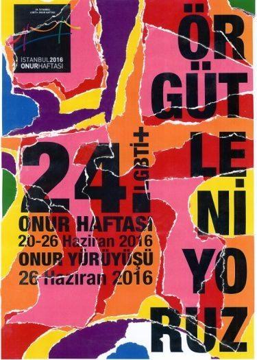 istanbul lgbti onur haftası 2016 afişi
