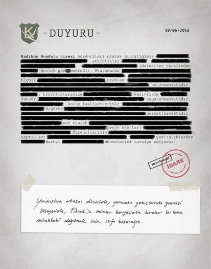 Yaşananları 'otosansürle' anlatan Kadıköy Anadolu Lisesi öğrencilerinin bildirisi