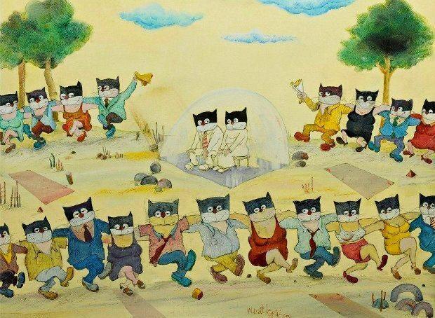murat kürüz halay çeken kediler