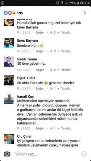 İşte Müslüman Anadolu Gençliği isimli grubun yaptığı paylaşımlar