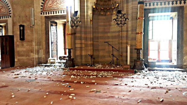 şehzade camii hasar gördü vezneciler patlama terör saldırısı