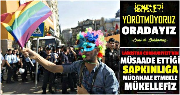 Taksim LGBTİ Onur Yürüyüşü için çok tehlikeli çağrı müslüman anadolu gençliği