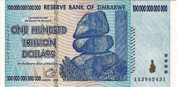zimbabwe trilyon dolar para