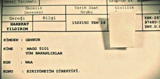 15 Temmuz darbe girişimi sıkı yönetim belgesi