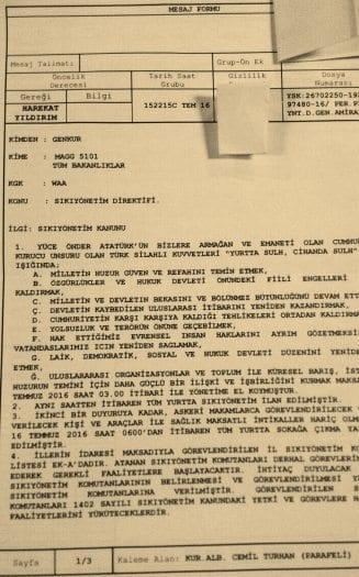 yurtta sulh konseyi 15 temmuz darbe girişimi belgesi