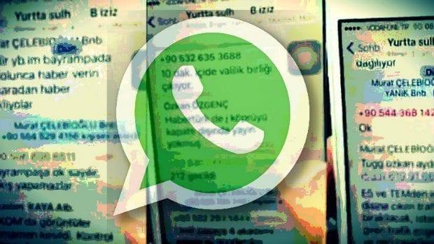 15 Temmuz akşamı darbe girişiminde bulunan askerler Whatsapp üzerinden haberleşti. İşte soruşturma tutanaklara geçen o yazışmalar albay binbaşı