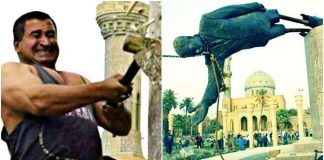 emperyalizm devrimi ırak abd saddam hüseyin heykeli şerif hasan emperyalizm