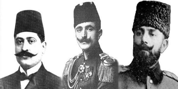 İttihat Terakki Liderleri (Talat, Enver, Cemal Paşalar)