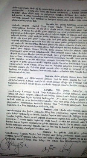 Orgeneral Akar'ın yaveri Levent Türkkan itiraf etti: Evet cemaat üyesiyim!