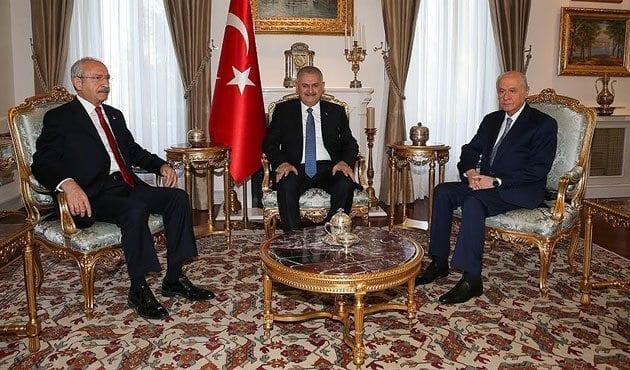 """Başbakanlık Konutu'ndaki liderler zirvesinden """"HDP'ye mesaj"""""""