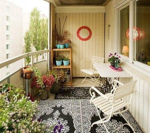 balkonda oturulacak yerler küçük balkon tasarımları dekorasyon