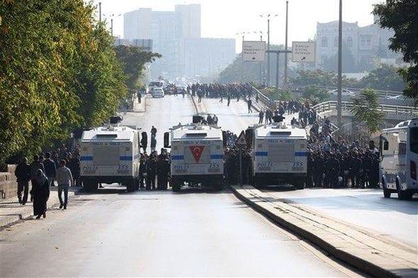 10 Ekim Ankara Gar katliamı anmasında gerginlik