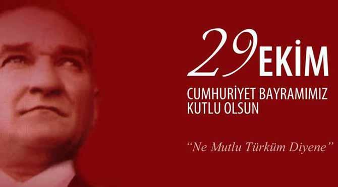 Bugün 29 Ekim Cumhuriyet Bayramı...