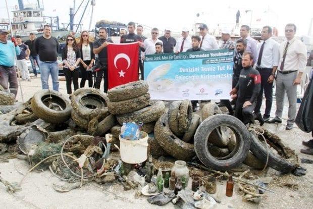 Akdeniz'de kirlilik oranı arttı! 500 ton çöp çıkarıldı