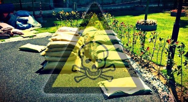 Kanserojen kimyasal maddelerle çocuk parkı yapılıyor