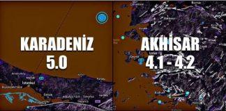 Manisa ve Karadeniz açıklarında arka arkaya deprem