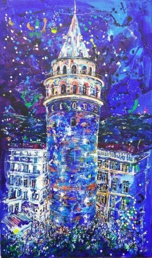 ned pamphilon galata kulesi blue