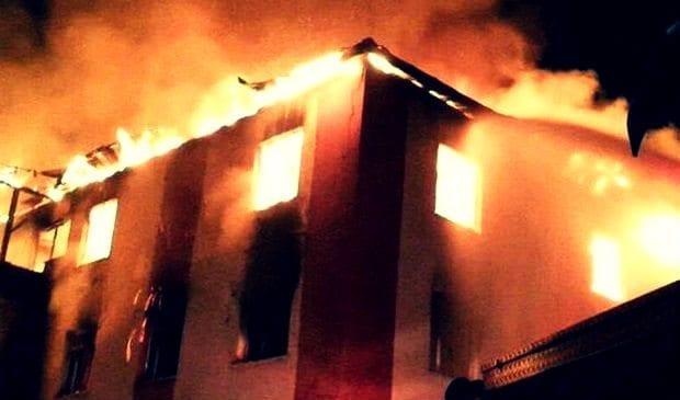 Adana Aladağ'da kız öğrenci yurdunda yangın