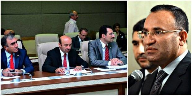 Ak Partili vekiller, Meclis Adalet Komisyonu'nda CHP önergesine destek vererek Adalet Bakanı Bekir Bozdağ'a rest çekti.