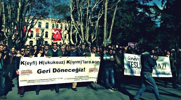 istanbul üniversitesi beyazıt ohal khk protesto eylemi