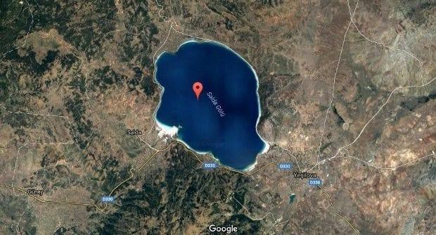 salda gölü uzay fotoğrafı burdur yeşilova